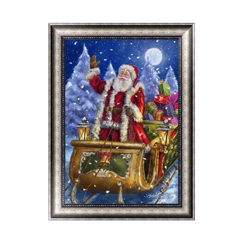 Christmas DIY 5D Diamond Embroidery Rhinestone Cross