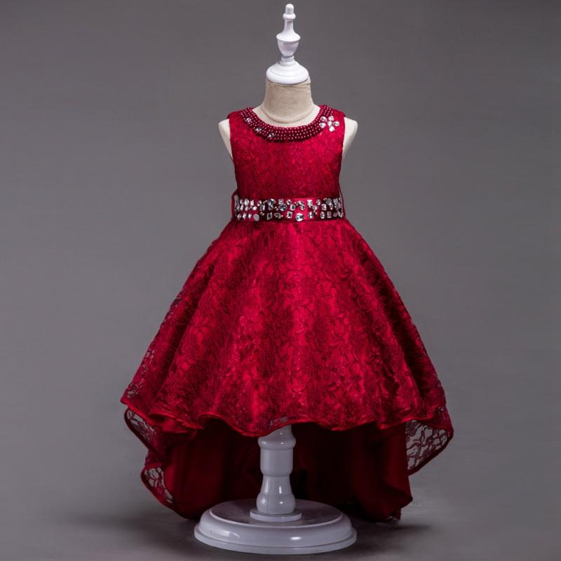 Elegant Kid Girl Evening Gown Formal Princess Tutu Dress Wedding ...