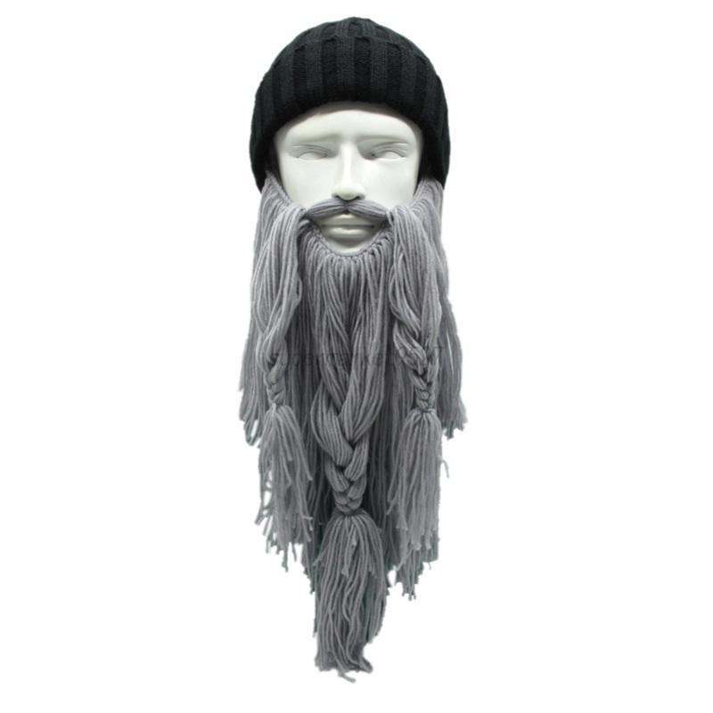 Men Winter Warm Viking Wizard Mask Ski Cap Crochet Knit Hat With ...