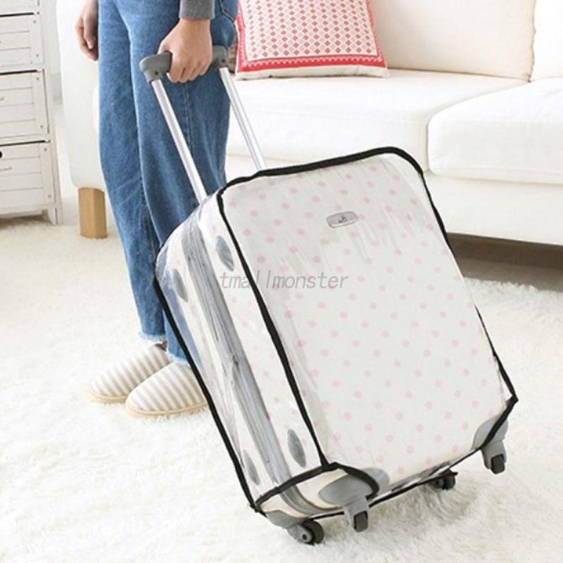 1 Pcs Clear Luggage Suitcase Protector Cover Case Outdoor Travel Waterproof PVC Clear