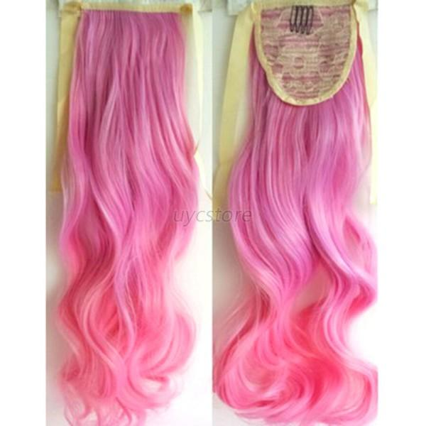 Women Full Head Clip In Long Synthetic Hair Extensions Curly Wavy